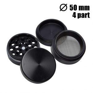 grinder 4-delig zwart