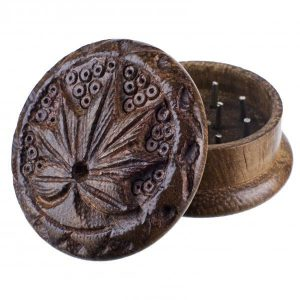 houten grinder wiet blad