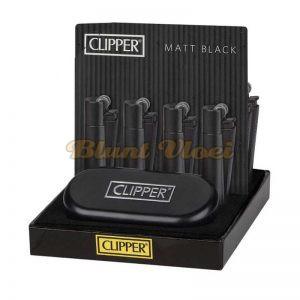 Zwarte metalen clipper aansteker