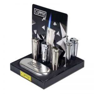 Clipper aansteker metal silver