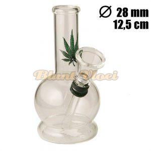 Kleine Glazen Bong Wietblad